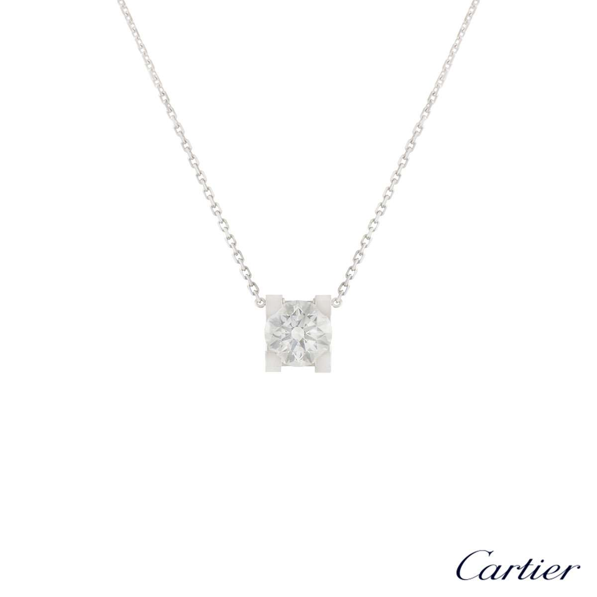Cartier C de Cartier Diamond Necklace 1.24ct F/VVS1 XXX